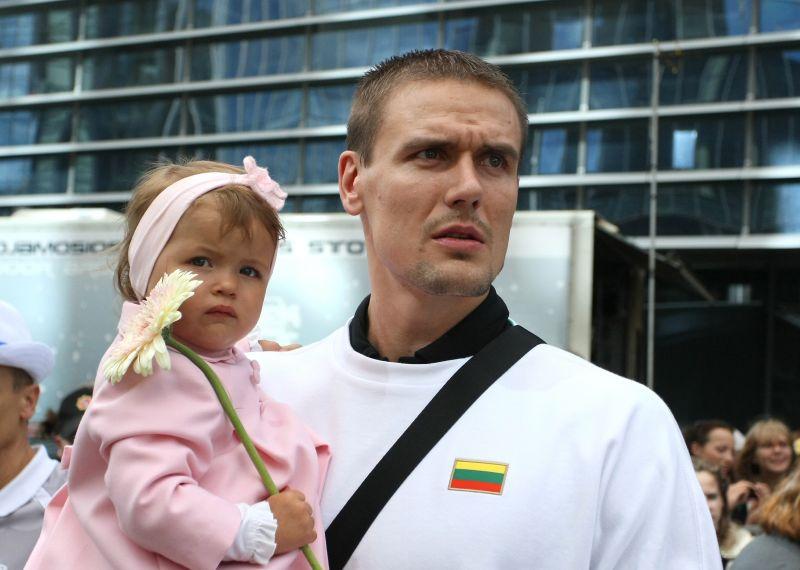 Robertas Javtokas su dukrele Greta