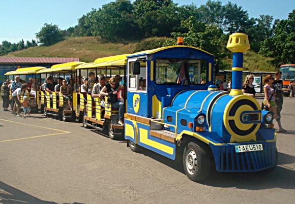 Kelionės traukinuku iki Delfinariumo kaina liko tokia pati, kaip ir pernai – 3 Lt.