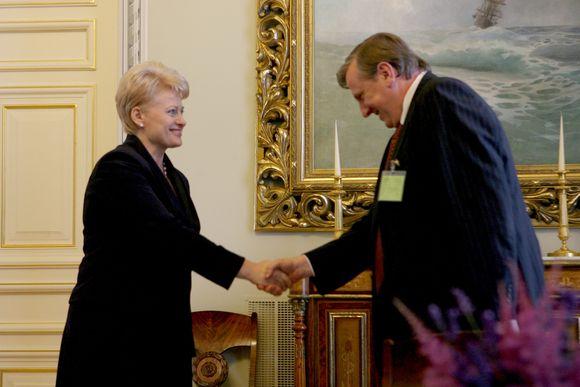 Dalia Grybauskaitė ir Rimantas Jonas Dagys