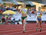 Eriko Ovčarenko/15min.lt nuotr./Likusi penkta, A.Orlauskaitė per daug neliūdėjo. Anot bėgikės, tai yra pakankamai geras rezultatas.