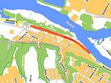 Riedučių maratono Kaune žemėlapis