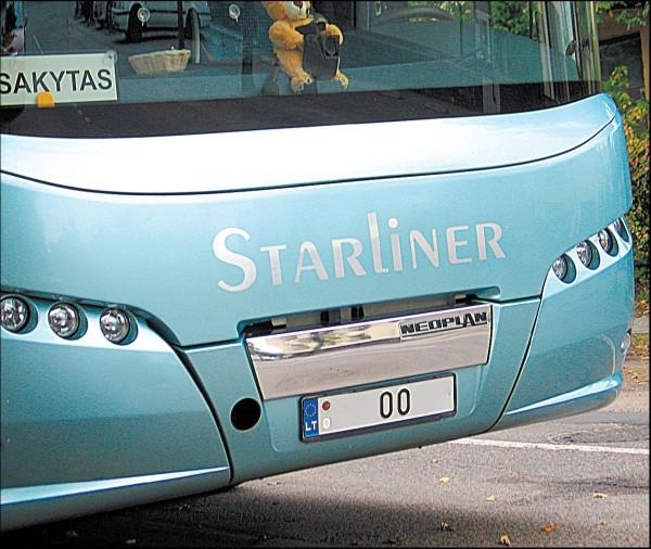 Bumo metais net autobusai buvo puošiami vardiniais numeriais.