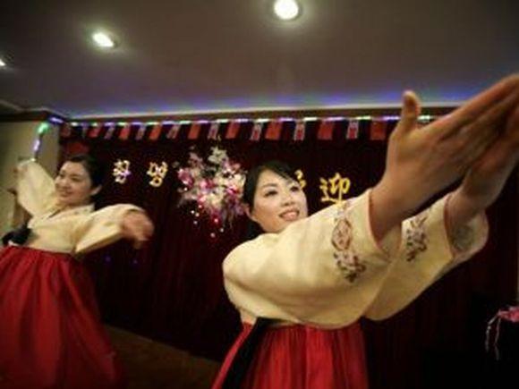 Korėjos šokėjos.
