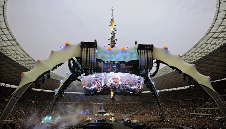 """""""U2"""" koncertų scena"""