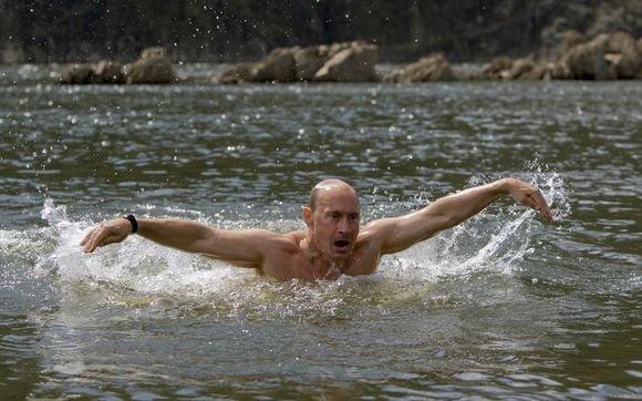 Reuters/Scanpix nuotr./Galingasis Rusijos premjeras ir upes perplaukia, ir kalnus perkopia.
