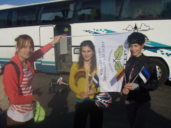 Į Taliną, iš kur prasidės žygis dviračiais, lietuviai iškeliavo autobusu.