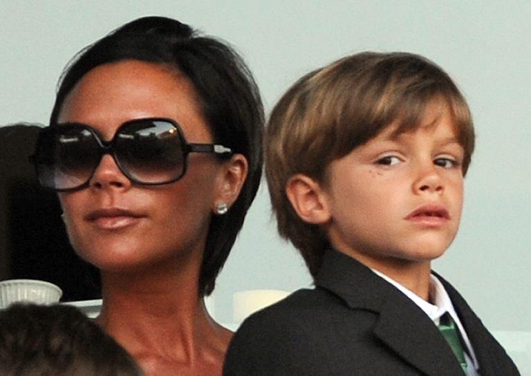 V.Beckham su sūnumi Romeo