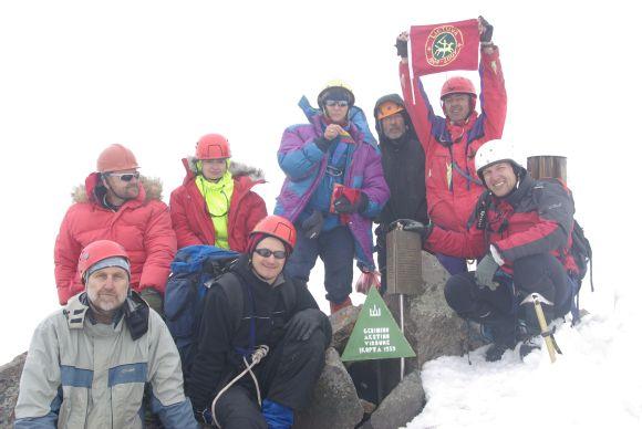 Alpinistai Gedimino Akstino viršukalnėje.