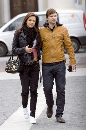 Žmonės nuotr./Agnė Ditkovskytė ir Aleksejus Čadovas Vilniuje 2009-aisiais