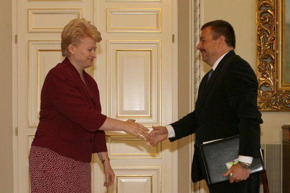 Dalia Grybauskaitė ir Vilius Navickas