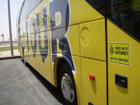 Autobusas, kuriame galima naudotis internetu