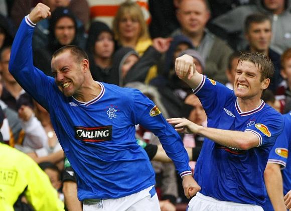 """Pergalę """"Rangers"""" klubui 88 rungtynių minutę iš 11 metrų baudinio išplėšė K.Boydas."""