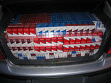 VSAT nuotr./Į Lenkiją vežtos kontrabandinės cigaretės