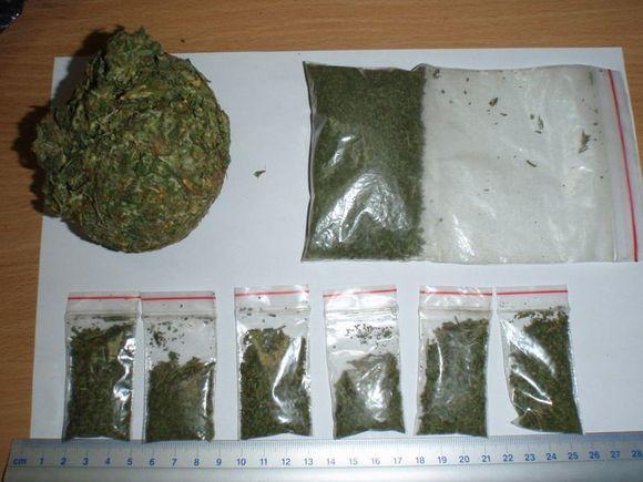 Per sulaikymą paimtos narkotinės medžiagos