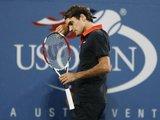 Reuters/Scanpix nuotr./Nesekmė finale nutraukė 41-o ia eilės R.Federerio atvirajame JAV teniso čempionate laimėto mačo seriją
