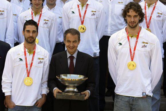 J.Zapatero ir auksinė Ispanijos komanda