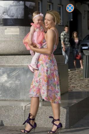 """Foto naujienai: Atlanta nerimavo prieš savo dukrytės Saulės """"debiutą"""" darželyje"""