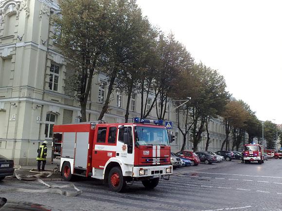 Ugniagesių pratybos VRM