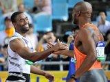 """AFP/""""Scanpix"""" nuotr./Paskutinę šiemet Tyson Gay ir Asafos Powello dvikovą laimėjo amerikietis"""