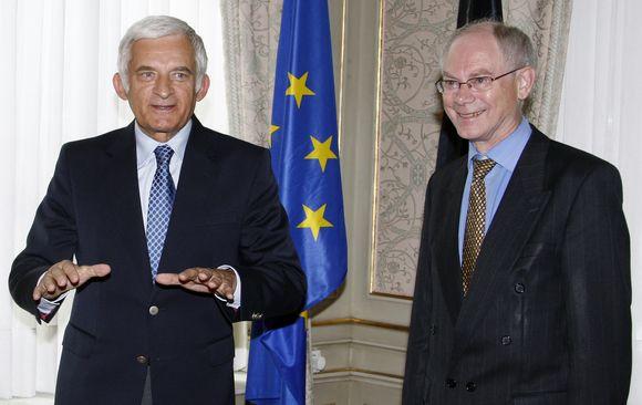 Lietuvoje lankysis EP pirmininkas Jerzy Buzek (kairėje).