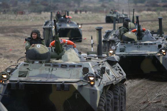 Rusijos ir Baltarusijos karo pratybų akimirkos