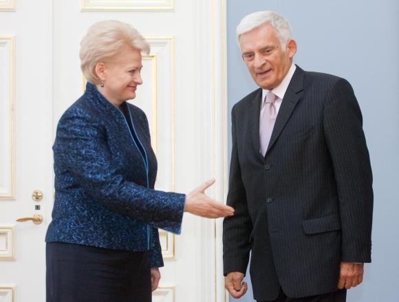 Prezidentė D.Grybauskaitė ir EP pirmininkas J.Buzekas