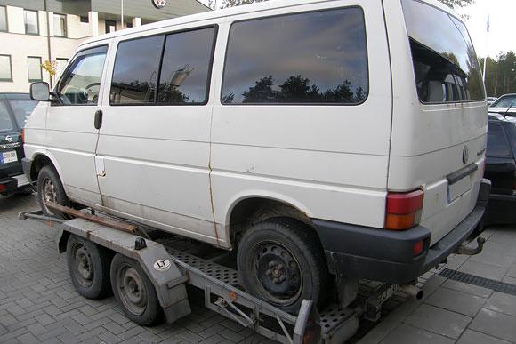Kontrabandininkų mikroautobusas