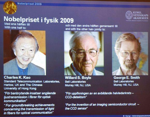 Mokslininkai, šiais metais gavę Nobelio fizikos premiją