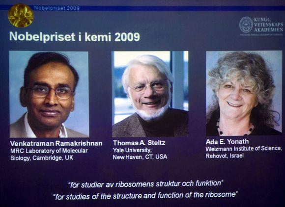 Nobelio chemijos premija paskirta izraeliečiui ir dviem JAV mokslininkams