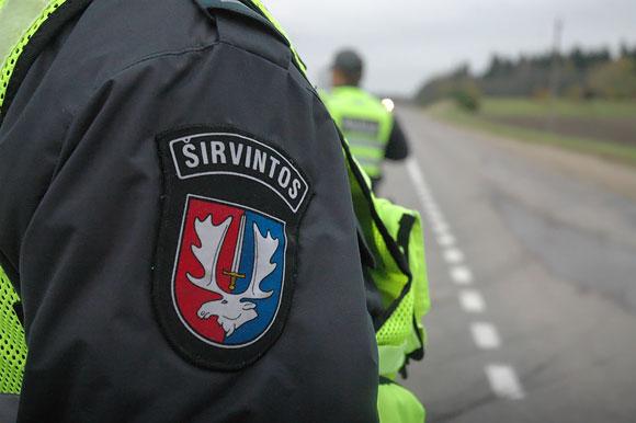 Širvintų policija blokavo kelius