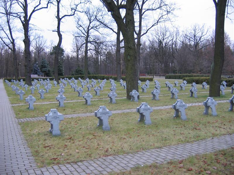Aukštųjų Šančių kapinėse, kuriose palaidoti ir Lietuvos kariai, įrengtas Kryželių laukas