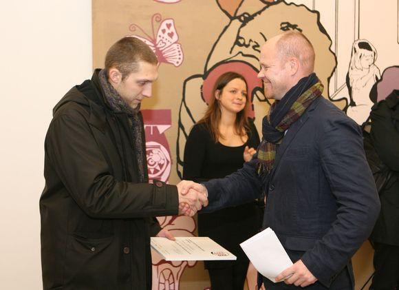 Vilmanto Marcinkevičiaus inicijuoto konkurso, siekiančio padėti jauniesiems talentams, finalo susirinko pasižiūrėti jį palaikantys svečiai.