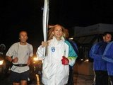 """Scanpix"" nuotr./Fani Halkia olimpinės ungnies etafetės metu"