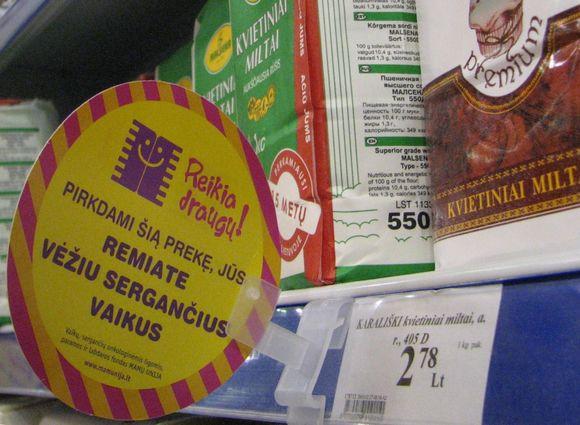 Specialiu ženklu pažymėti produktai
