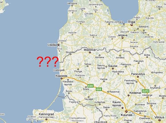 Lietuva ir Latvija niekaip nesusitaria dėl jūros sienos.