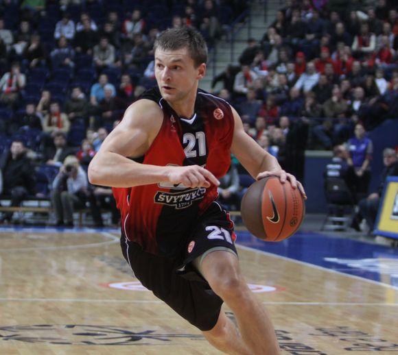 """Vilniaus """"Lietuvos rytas"""" savo aikštelėje žaidžia ketvirtojo Eurolygos turo rungtynes su Belgrado """"Partizan"""" krepšininkais."""