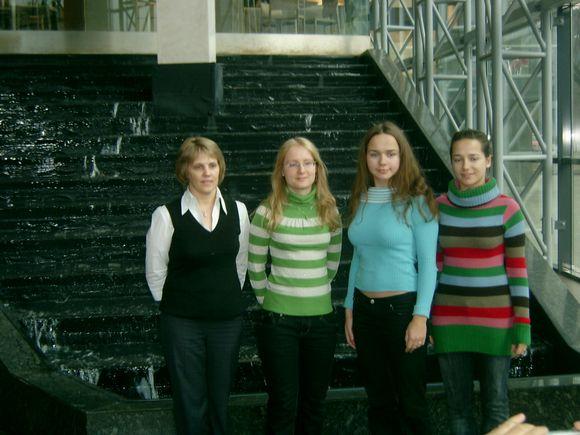 Lietuvos rinktinės (narės iš kairės): Vineta Kveinys, Jelizaveta Potapova, Jurgita Dambrauskaitė, Vilma Dambrauskaitė.