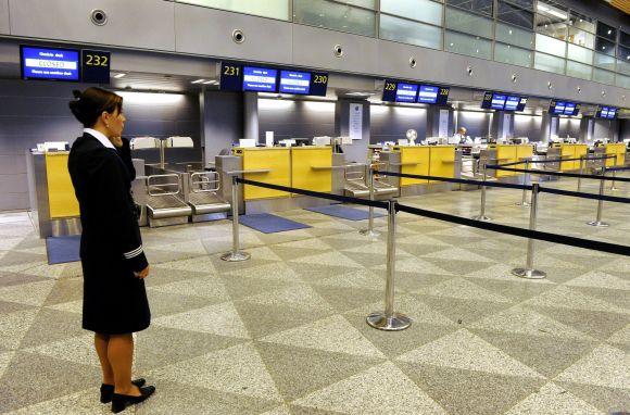 Finnair streikas, ištuštėjęs Helsinkio oro uostas