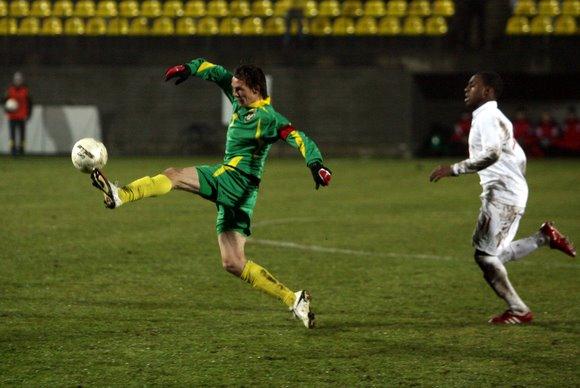 Europos jaunimo (U-21) čempionato atrankos rungtynėse Lietuvos jaunimo rinktinė susitiko su Anglijos futbolininkais.