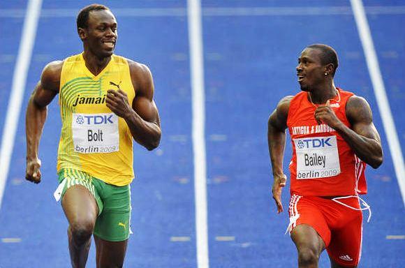 Treniruočių partneriai – Danielis Bailey ir Usainas Boltas
