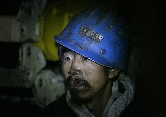 Kinijos šachtininkas