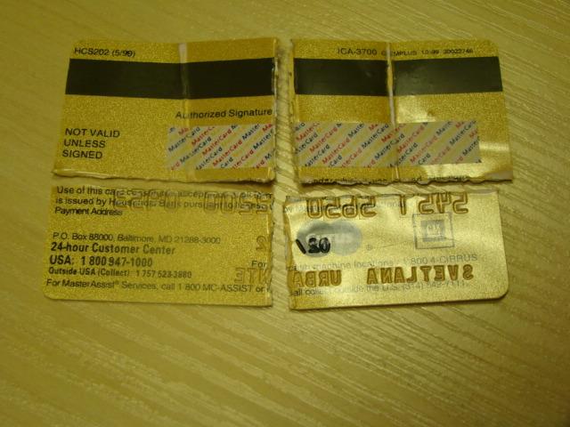 Padirbta atsiskaitymo kortelė