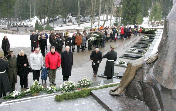 Sausio 13-osios aukų pagerbimo ceremonija