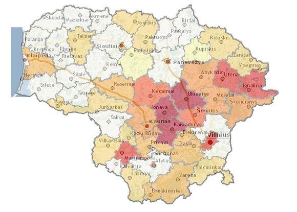 Gripo žemėlapis
