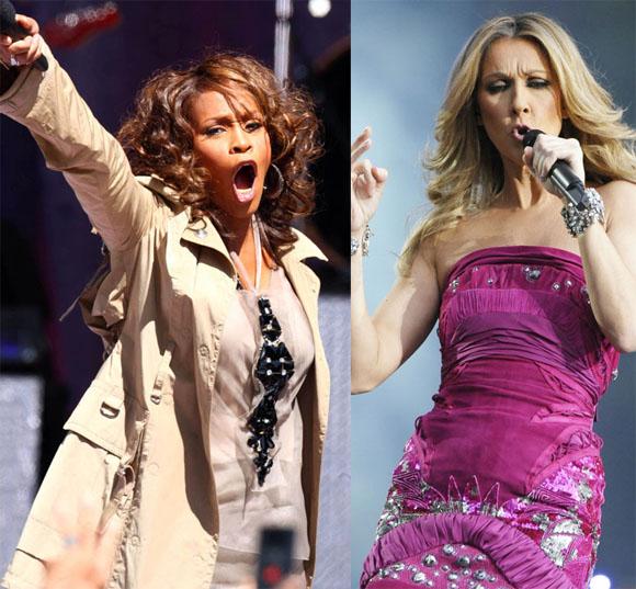 Whitney Houston ir Celine Dion