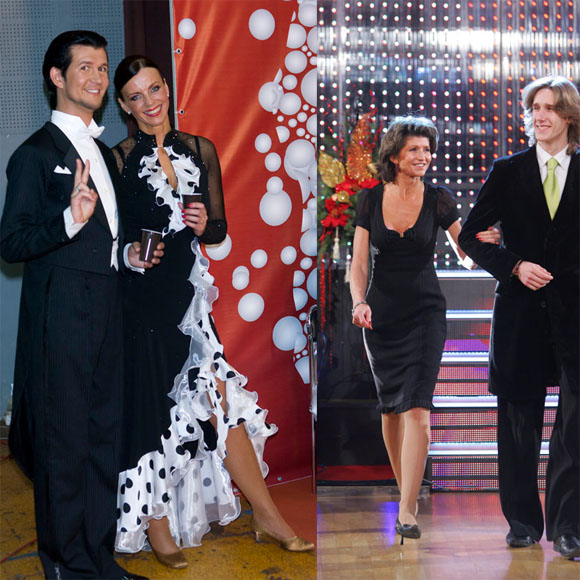 Inga Valinskienė ir Laima Paksienė su šokių partneriais
