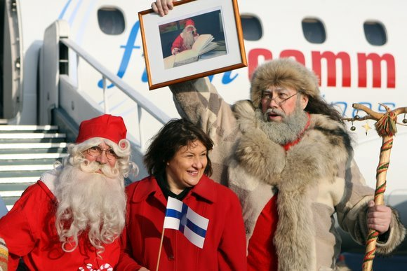 Juliaus Kalinsko/15 minučių nuotr./Tikrasis Kalėdų senelis Joulupukki pasveikino Lietuvos vaikus