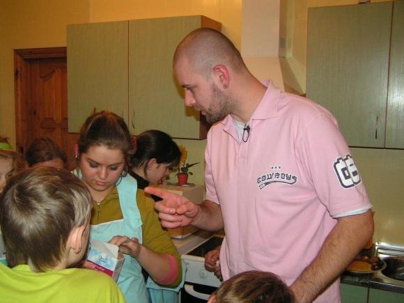 Linas Samėnas su vaikais