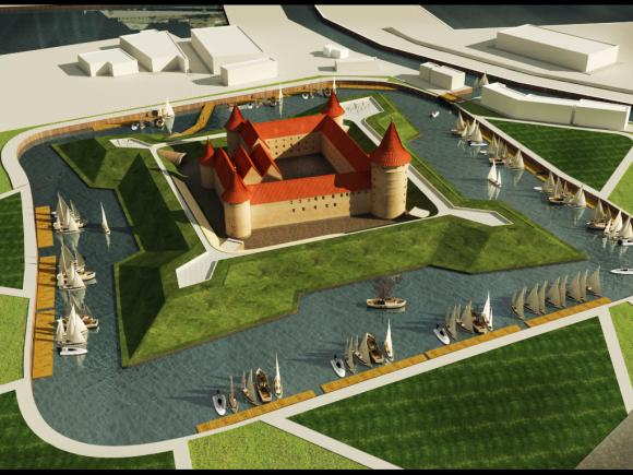 Piliavietėje buvo numatyta įrengti konferencijų sales, muziejų.