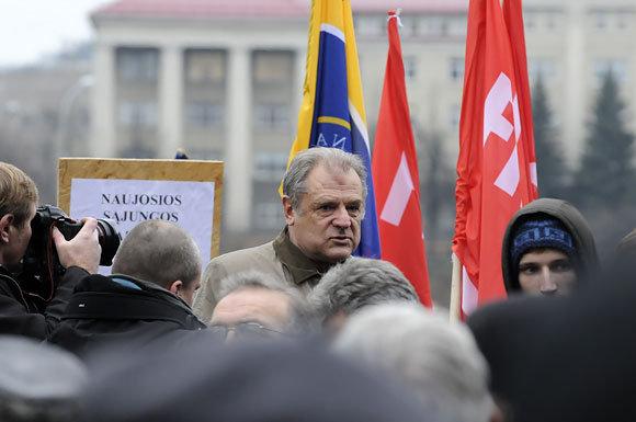 Andriaus Vaitkevičiaus/15min.lt nuotr./Julius Veselka mitine prie Seimo